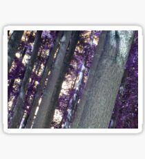 purple trees Sticker