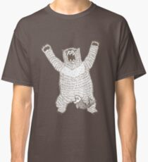 Roaring Bear (Ink) Classic T-Shirt