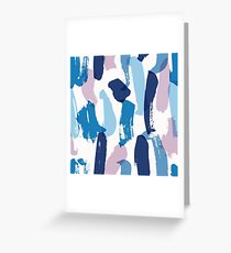 Colorful Abstract Brush Strokes Greeting Card