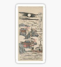 Harunobu - Eight Views of Omi 3: Autumn Moon at Ishiyama (1760) Sticker