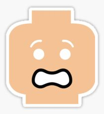Scared Minifig Face Sticker