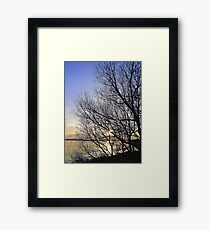 Late March Sunset On Inch Island...........................Ireland Framed Print