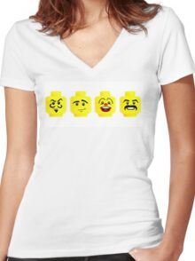 Lego fun Women's Fitted V-Neck T-Shirt