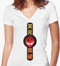 tengen toppa Women's Fitted V-Neck T-Shirt