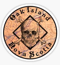 OAK ISLAND NOVA SCOTIA CURSE CANADA PIRATE TREASURE HUNT MONEY PIT Sticker