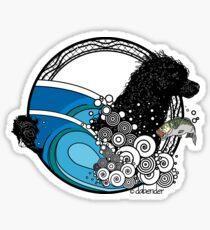 Water Dog Nouveau Sticker