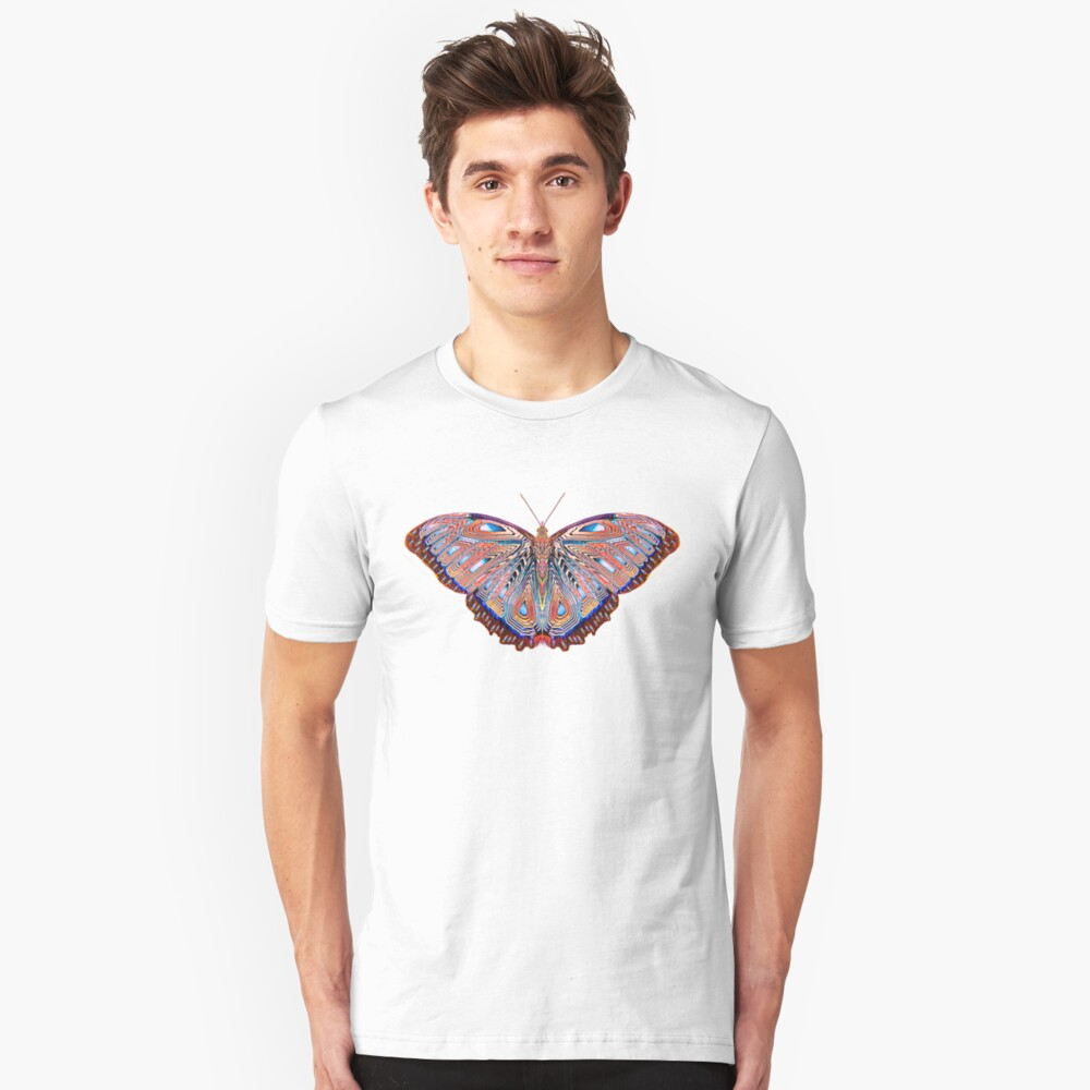 Fantasy Butterfly Neon Unisex T-Shirt Front