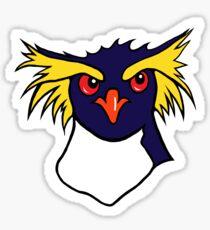 Grumpy Rockhopper Penguin Sticker