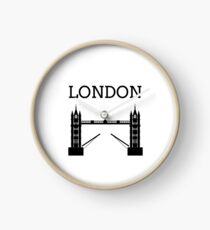 London Tower Bridge Silhouette Clock