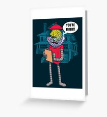 The Boss. Greeting Card