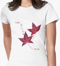i am falling for you Women's Fitted T-Shirt
