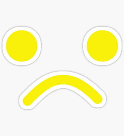 Sad Minifig Face Sticker
