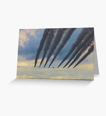 Red Arrows Arrive Greeting Card