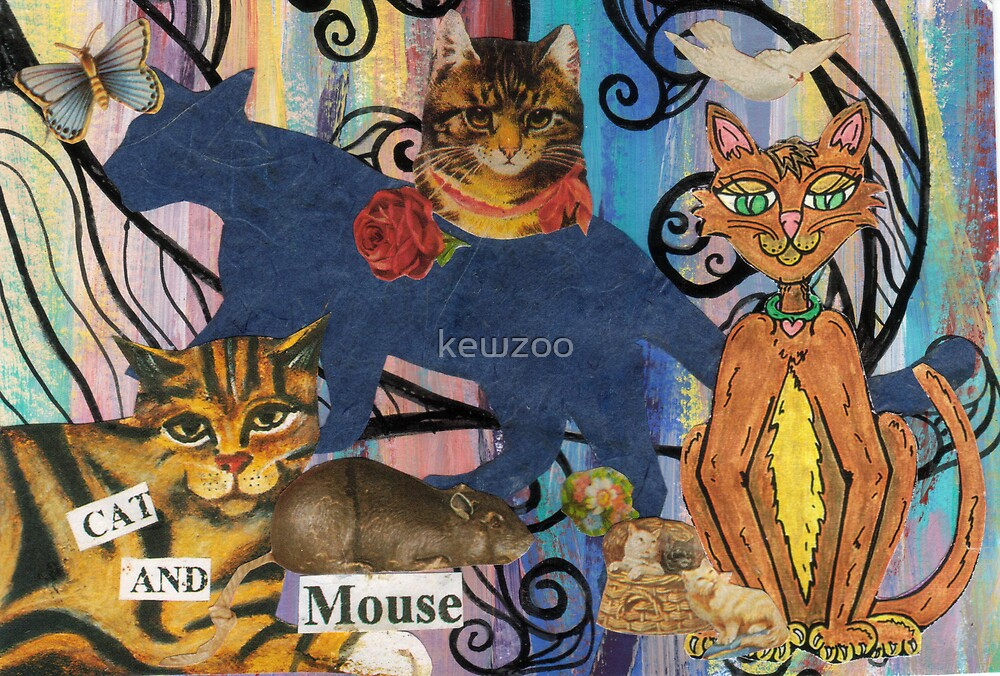 Cat collage 3 by kewzoo