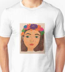 Flower Crown Portrait T-Shirt