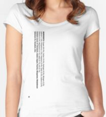 ingredients: Women's Fitted Scoop T-Shirt