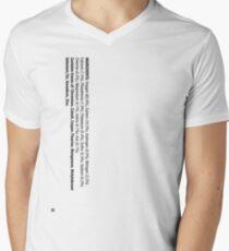 ingredients: Men's V-Neck T-Shirt