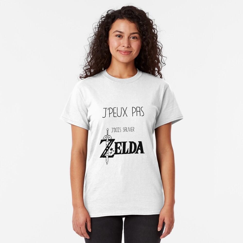T-shirt classique «J'peux pas j'dois sauver Zelda»