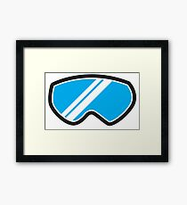 Snow goggles winter Framed Print