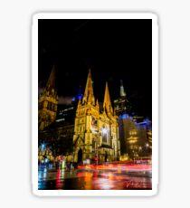 St Paul's Cathedral, Melbourne, Victoria, Australia. Sticker