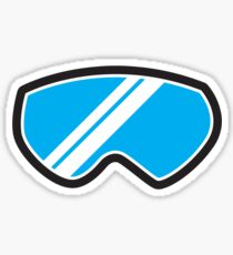 Snow goggles winter Sticker