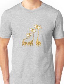 Cute Giraffe Family - Savannah Animals Unisex T-Shirt