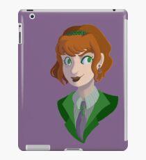 the lady riddler iPad Case/Skin