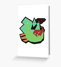 Viking age fish attack Greeting Card