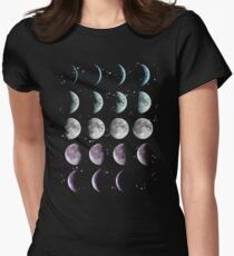 Moon Phase Womens Fitted T-Shirt