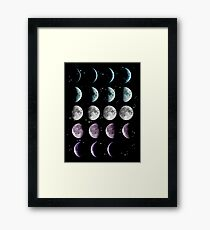 Moon Phase Framed Print