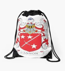 Cannon Coat of Arms Drawstring Bag