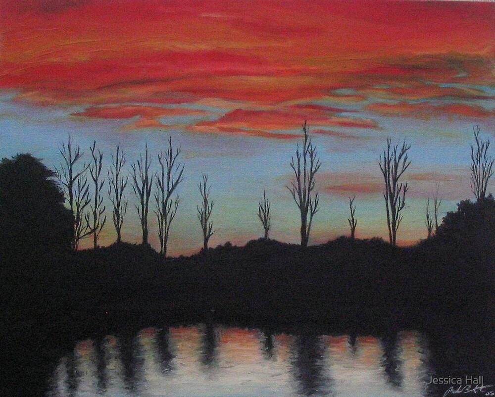Sunset At Ringwood Lake by Jessica Hall