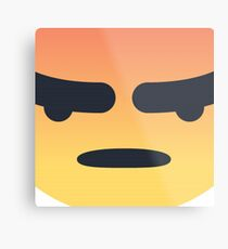 Angry Emoji Metal Print