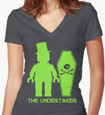 THE UNDERTAKER  Women's Fitted V-Neck T-Shirt
