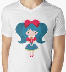 Loli girl Men's V-Neck T-Shirt