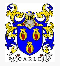 Carle Coat of Arms Photographic Print