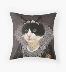 Lady in the Mask Throw Pillow