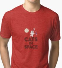 Cats in Space R268b Tri-blend T-Shirt
