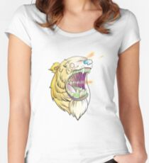 Lazer Bear Women's Fitted Scoop T-Shirt