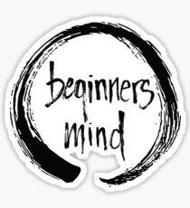 Beginners Mind Enso Sticker