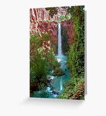 Moony Falls and Tree Greeting Card