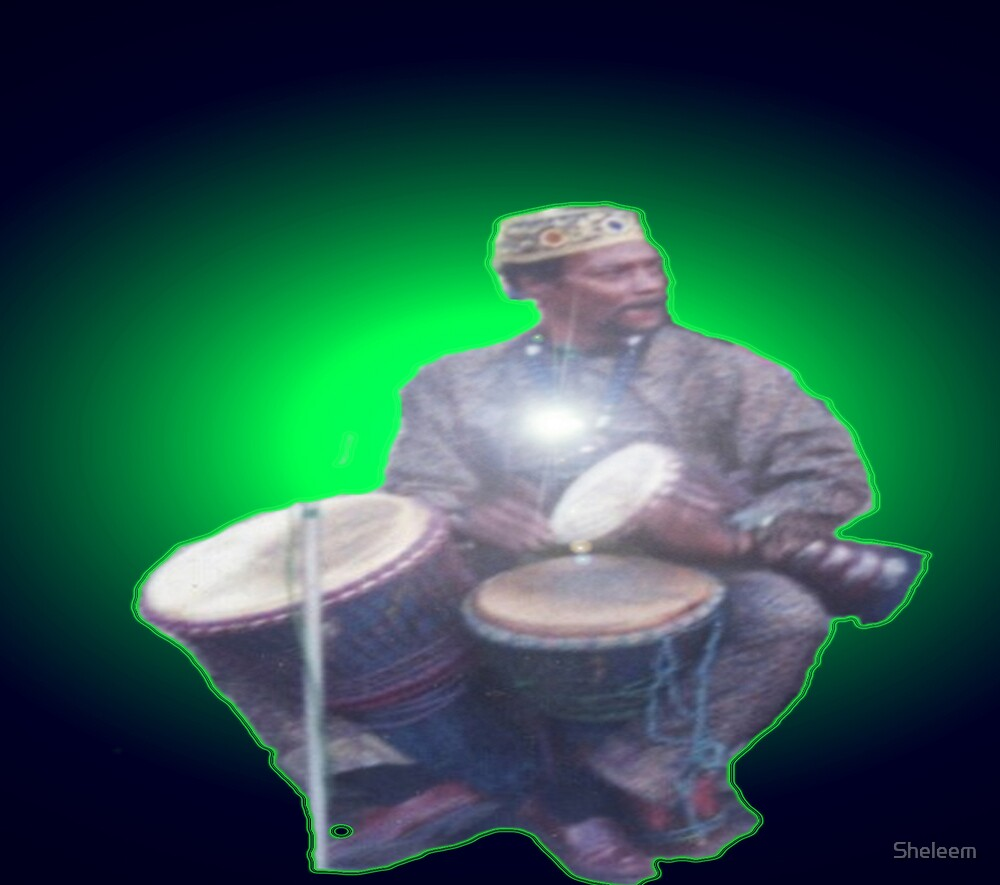 Green Ray Drummer by Sheleem