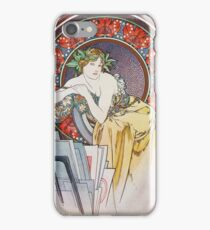 Alphonse Mucha - Girl With Easel iPhone Case/Skin