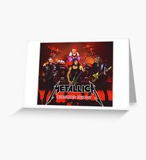 HEAVY METAL ROCK BAND ODRY1 Greeting Card