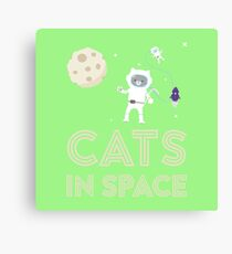 Cats in Space Rtfb7 Canvas Print