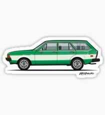 Kylee's Green VDub Dasher Wagon  Sticker