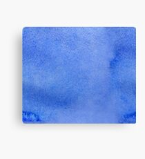 Azure watercolor Canvas Print