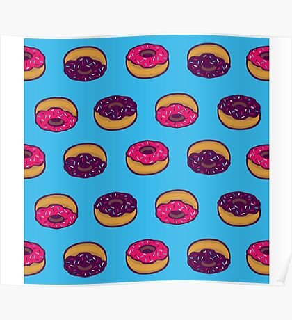 Donuts All Over Poster
