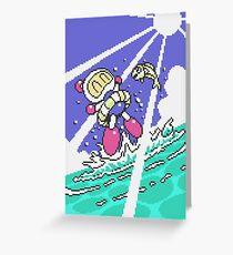 Panic Bomber W - Beach 2 ☼☁ Greeting Card