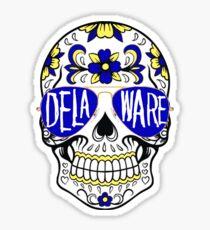 Delaware Skull Sticker